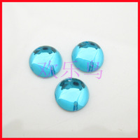Fashion glossy tianlan circle transparent acrylic diy sew-on clothes diamond beads 10