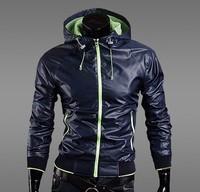 hot selling free shipping Autumn wind and waterproof sunscreen UV Slim Men's Jacket blue purple navy M L XL XXL NZJ36 FY
