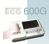 *Synchro Uploading Function* ECG-600G Color Touchscreen 6 Channels 12 Leads ECG/EKG ,Electrocardiograph
