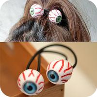 Promotion! Wholesale!  Fashion lady women jewelry hot-selling acrylic blue and green blood streak eyes hair rope SHR106