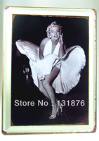 30*40CM Marilyn Monroe Actress Bar Wall Decor Pub Sign Home Iron Painting Film Poster