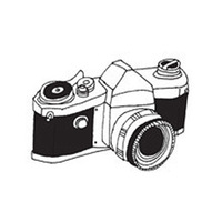 Black small camera waterproof disposable tattoo stickers general
