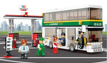 403pcs/set Child Toy DIY  Blocks, Kids Educational City Double-decker Bus Brick Toy Set B0331 best gift for kid, Free Shipping