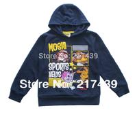 Promotion! boy boys long sleeve Fleece blue coat hoody jacket outerwear Big sizes 5-9 Years