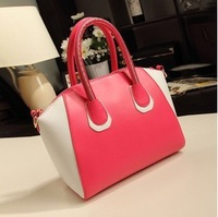 New women handbag personalized candy colors hit the color stitching mobile diagonal package Free shipping