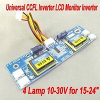 "Free Shipping Universal CCFL Inverter LCD Monitor Inverter 4 Lamp 10-30V for 15-24"" Widescreen"