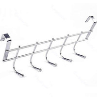 Free Shipping New Bathroom Kitchen Hat Towel Hanger Over Door Hanging Rack Holder Five Hooks