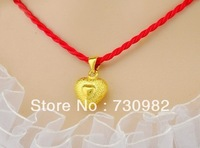9k 14k 18k yellow gold pendants golden solid small heart style fashion suits for chain necklace   birthday gift