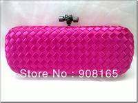 free shipping new 100% silk woven women handbags fashion clutch bag dress evening bag