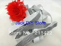 10 Yards Black Chevron Elastic for Baby Headbands, Elastic By The Yard Hair Accessorries
