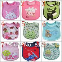 Free shipping 10 pcs Cotton Baby bib Infant saliva towels Baby Waterproof bib Carter Baby wear