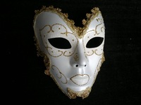 Free Shipping Luxury Filigree Venetian Masquerade Ball Cosplay Halloween Party Masks Antique Mask Full Men