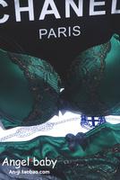 New Arrival 2014 brand underwear women Victoria vs green sexy butterfly lace push up bra set women bras set free shipping