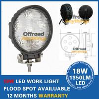Free Shipping + 2PC LED Car Bulb work light 18W Car headlight 12V 6LED White 1800LM Extra Headlight For Vehicle Truck