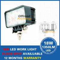 4 Pcs 10-30V 18W 6 LED Work light Aluminium alloy Working Spot Light car Fog light For Jeep SUV ATV Off-road Truck Free shipping