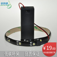 Bright rundle 3528 3v battery box with lights 0.3 meters counter decoration led strip waterproof IP65