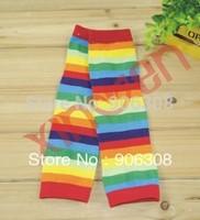 Free shipping!2014 New Wholesale 2Pairs/lot Cute New Unisex baby legwarmers Stripe rainbow Kids leg warmer baby socks