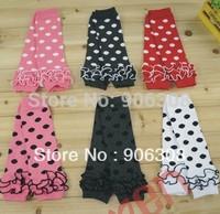 Free shipping!New Wholesale 4Pairs/lot Cute New Fashion Unisex baby legwarmers lace dots Kids leg warmer baby socks