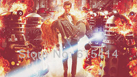 "10 Doctor Who space travel BBC TV show 42""x24"" inch wall Poster with Tracking Number"