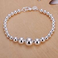 Factory Price wholesale 925 Silver Charm Beads Bracelet  Fashion Silver Chain Bracelet Jewelry Brand ! Personalized Jewelry H165
