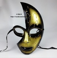 Free Shipping Luxury Venetian Masquerade Ball Cosplay Halloween Party Masks Antique Full Ball Masks