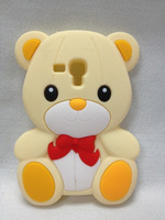 lucky 3D Teddy cute Bear Giant lovely Silicone Soft Case Cover For Samsung Galaxy S3 Mini i8190