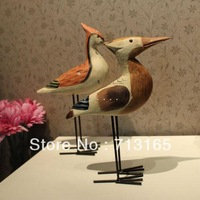 Long mouth bird decoration desktop wood decoration home decoration,free shipping