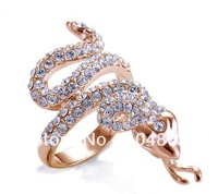 Original fashion jewelry wholesale/Retail Popular Animal's Year Snake ring diamond ring Bling Bling Hot Sale Rings