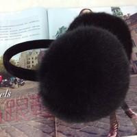 Handmade adjustable faux earmuffs thermal earmuffs faux fur earmuffs ear package ear cover sub-