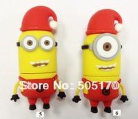 Free shipping 2GB 4GB 8GB 16GB 32GB 64GB Despicable Me 2 Minions 3 Pack USB Flash Drive, Dave, Kevin, Stuart