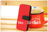 100% new brand hot sale luxury retro leather flip case cover design with inner card holder for iphone 5 5G ,DHL free +8color