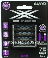2pack/lot New Original SANYO XX AAA Ni-MH HR-4UWXB-4TC 950Mah Rechargeable Battery Batteries,Fre Shipping 4pcs/pack