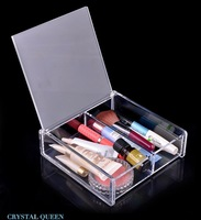 Free Shipping clear Acrylic makeup storage display Organizer stand case acrylic makeup organizer box  acrylic cases