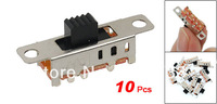 10 Pcs x DC 50V 0.5A 3 Position 2P3T DP3T Panel Slide Switch 8 Pin PCB SS23E04