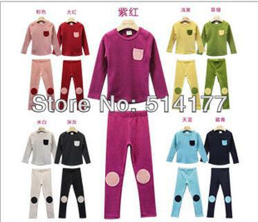Free shipping - 5sets/lot pocket Designs child leisure wear suit kids Underwear Suit(China (Mainland))