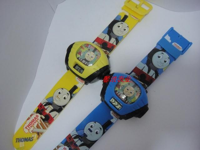 Projection cartoon watches thomas train watch student watch electronic watch(China (Mainland))