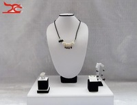 Free Shipping  Wholesale jewelry showcase,925 Sterling Silver Jewelry Display,Incounter Showcase,white PU