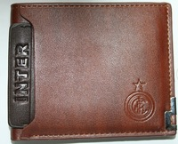"""Free shipping inter milan brown purse / size 4.72"""" * 3.93""""   Nerazzurri wallet moneybag with removable driver's license slots"""