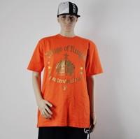Hip hop Yardmanstyle orange men's 100% cotton t-shirt -urban clothing