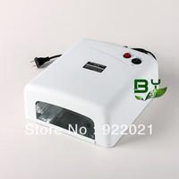 Free Shipping White uv nail lamp dryer 36W 220-240V light curing machine(EU Plug)