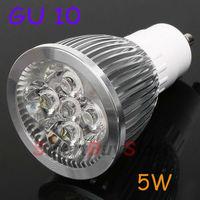 100pcs/lot,Factory price Wholesale GU10 LED Bulb lamp 85~265V 5W 500-550LM led Spotlight White/Warm white led lamp free shipping