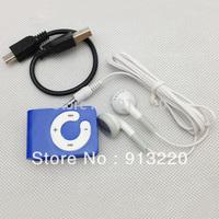 cheap 100pcs C button Mini Clip MP3+ 100pcs usb cable+100pcs earphones support  2G 4G 8G TF card 6 colors free shipping DHL