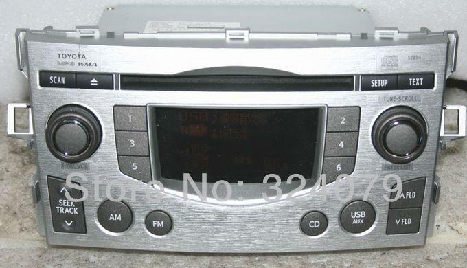 Panasonic/Matsushita single tuner 86120-0F110 CQ-JU71K0AD use for Toyota Verso Car CD radio MP3 AUX USB provide buttcock line(China (Mainland))