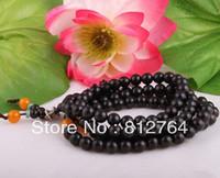 Free shipping wholesale 10pc/lot 108*8mm genuine black rosewood wooden the agate turquoise beads man bracelet Buddha prayer mala