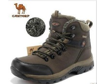 Camel 2013 qiu dong men's warm leather high-top shoes, hiking shoes, outdoor shoes off-road