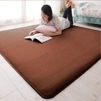 Carpet and Rug Coral fleece carpet living room carpet bed blankets slip-resistant mats water wash