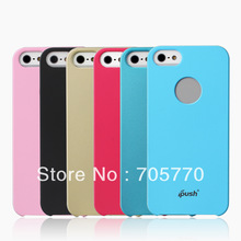 Free Shipping High Quality Rubberized Hard Matte Case Cover for iPhone 5 Matte Rubber Back Case