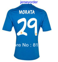 13-14 Thailand Quality soccer jerseys Real Madridred #29 Morata blue  jersey 13/14 can mix order