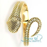 Fashion Crystal Snake Bracelet Lady Dinner Dress Cuff Bangle Quartz Watch
