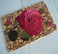 Gill high quality fashion flower mats doormat bathroom slip-resistant absorbent mats bedroom floor mats